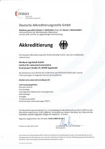 Zertifikat Akkreditierung Labor