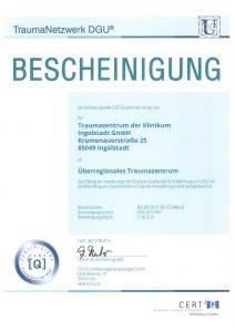 TraumaNetzwerk DGU Bescheinigung 2016 neu