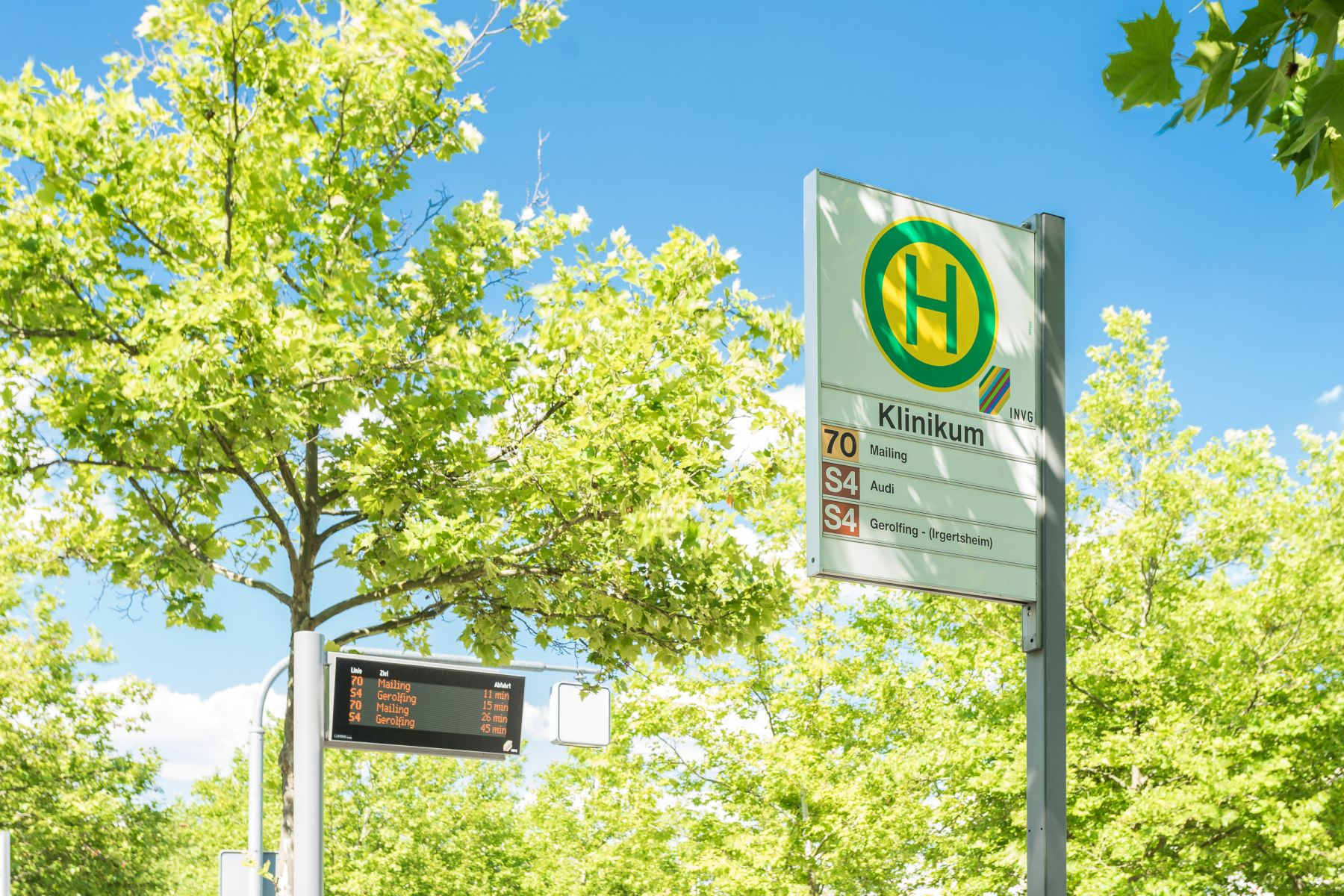 Bushaltestelle am Klinikum Ingolstadt