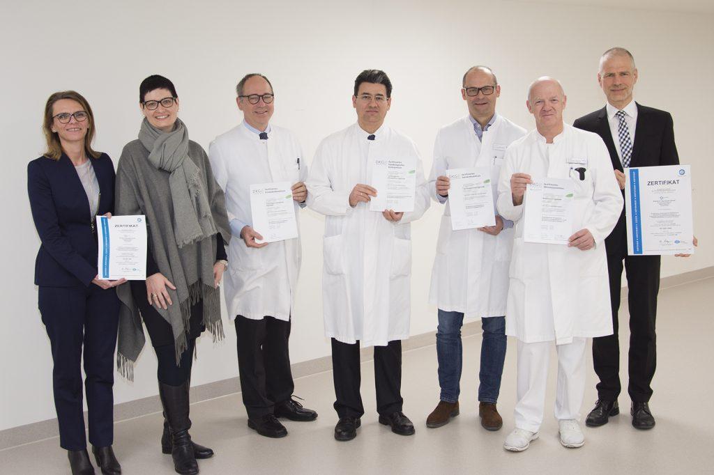 Re-Zertifizierungen der Zentren am Klinikum Ingolstadt