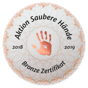 Zertifikat Aktion Saubere Hände