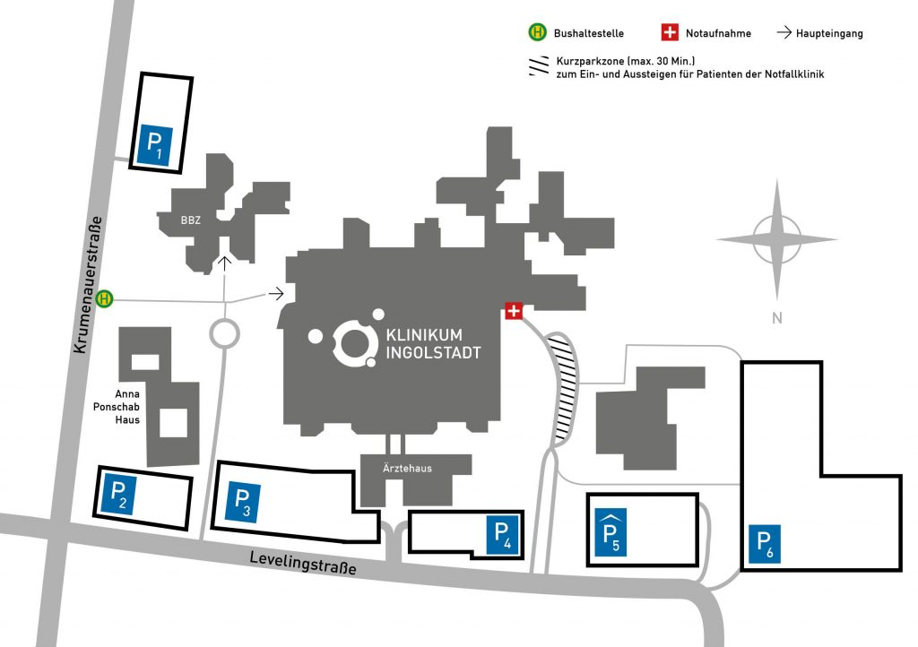 Lageplan Klinikum Ingolstadt
