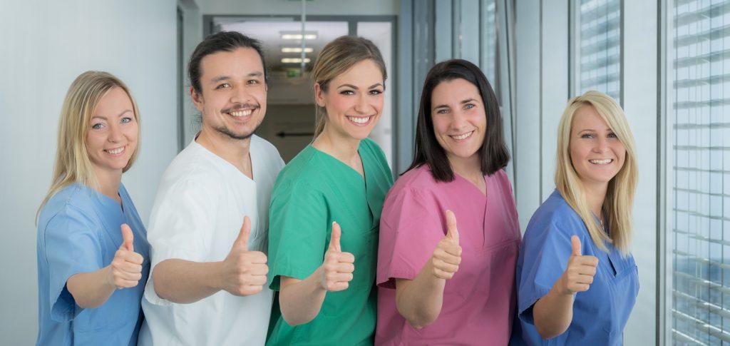Das Pflegeteam des Klinikums Ingolstadt freut sich auf Verstärkung.