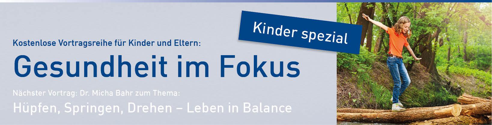 Online Banner Vortrag Kinder Spezial: Hüpfen Springen Drehen - Leben in Balance