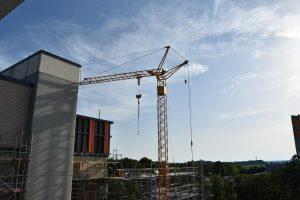 Bauarbeiten an der Außenfassade