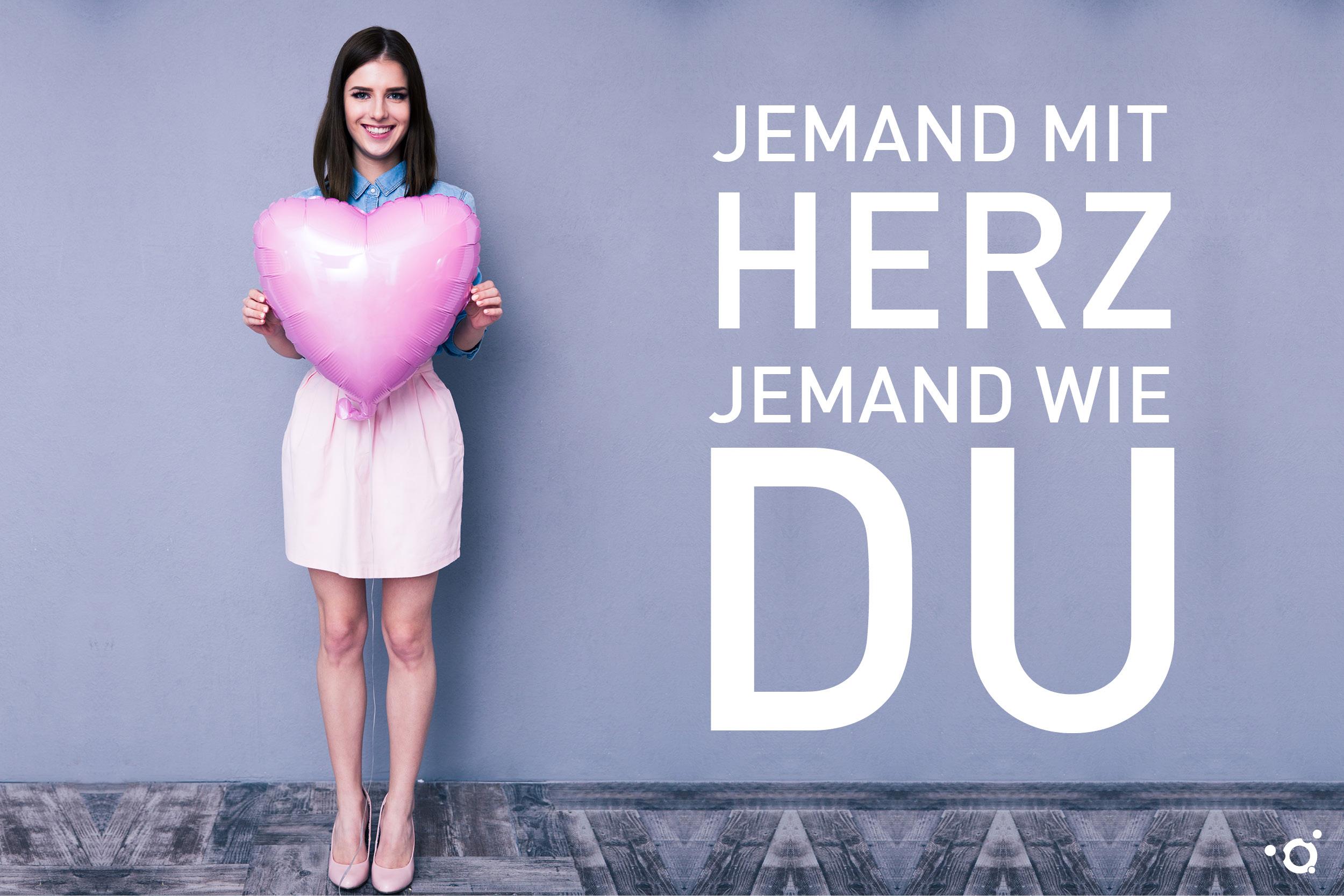 Imagebild der Azubi-Kampagne des Klinikums Ingolstadt: Jemand mit Herz, jemand wie DU!