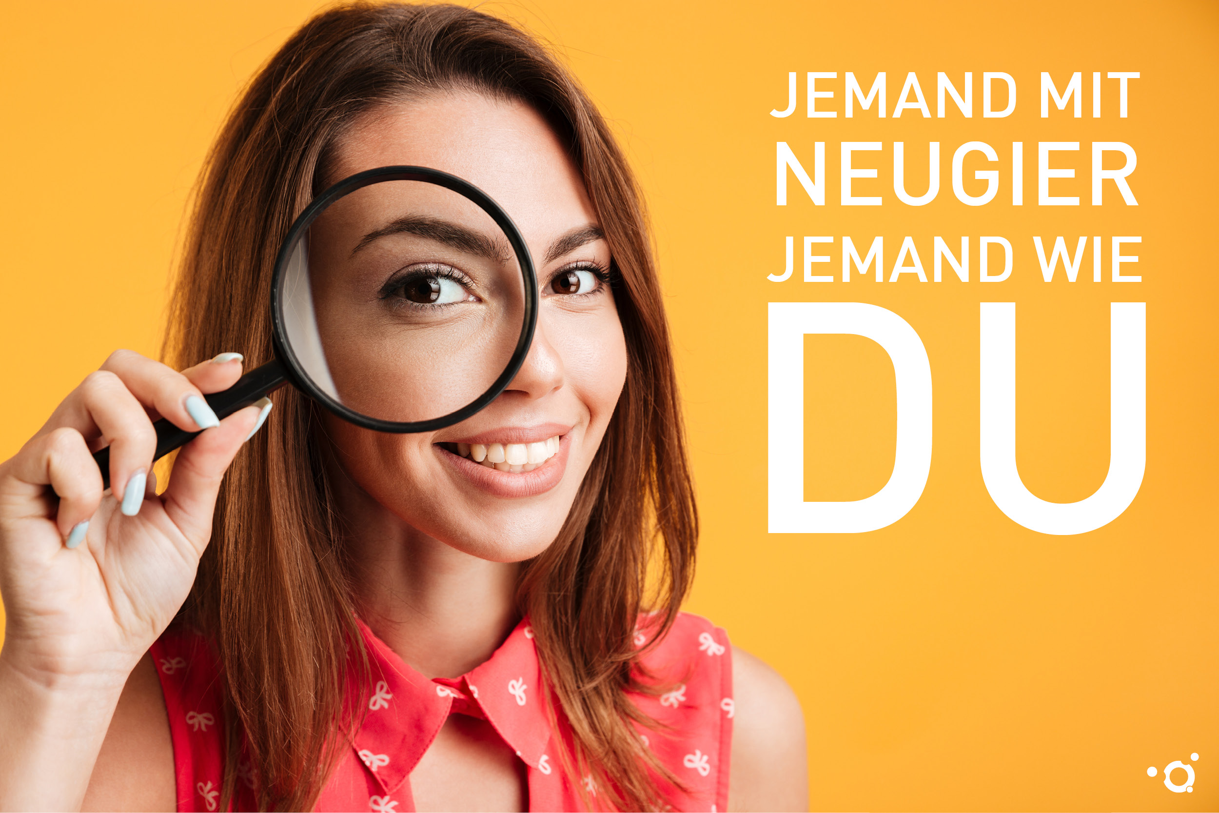 Imagebild der Azubi-Kampagne des Klinikums Ingolstadt: Jemand mit Neugier, jemand wie DU!
