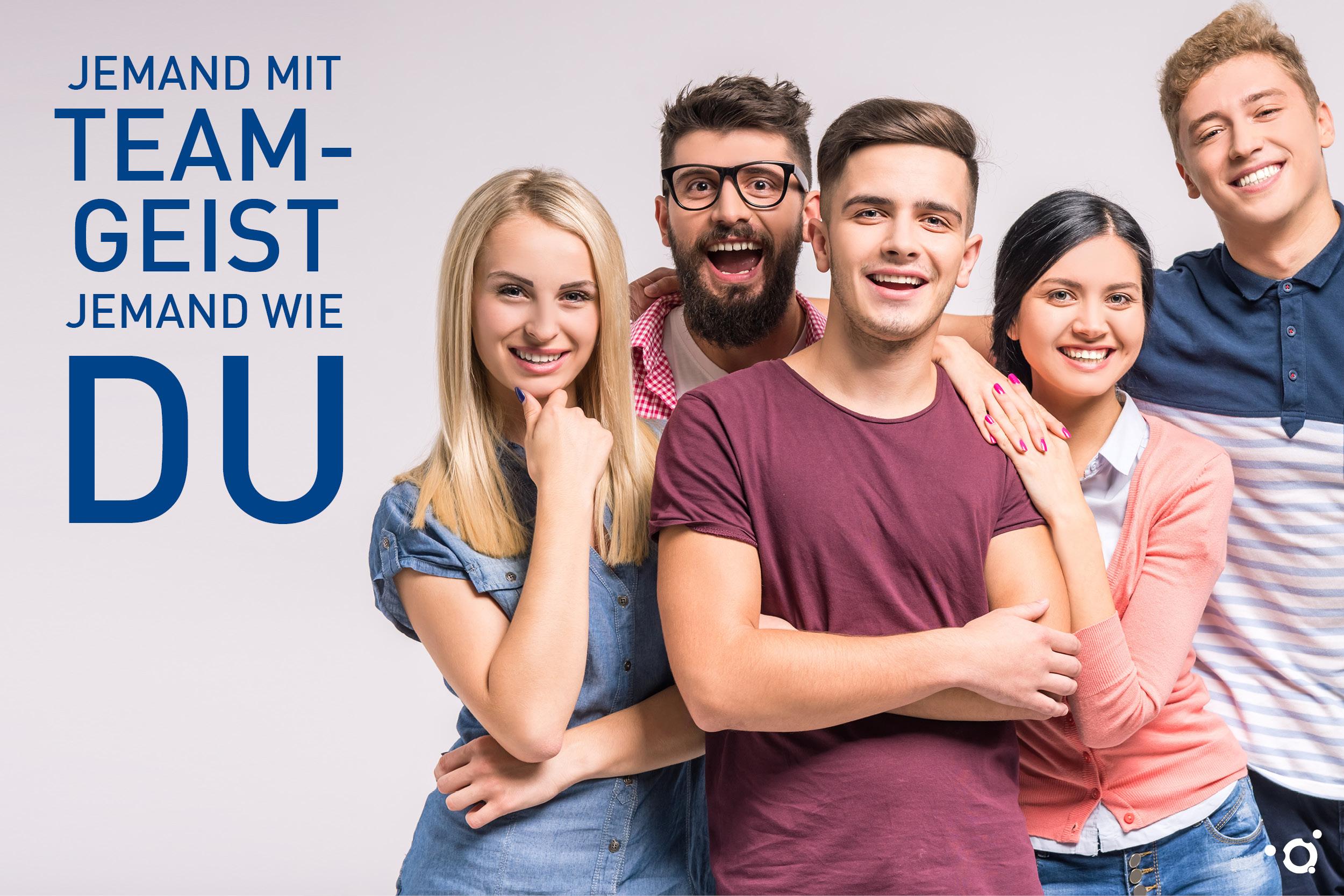 Imagebild der Azubi-Kampagne des Klinikums Ingolstadt: Jemand mit Teamgeist jemand wie DU!