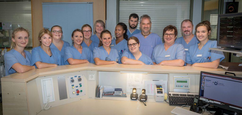 Das Team der Intensivstation im Klinikum Ingolstadt